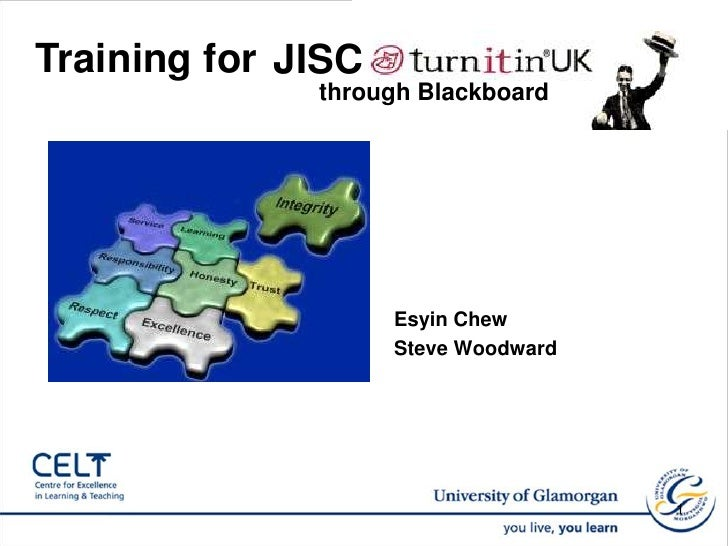 Training for <br />JISC <br />through Blackboard <br />Esyin Chew<br />Steve Woodward <br />1<br />
