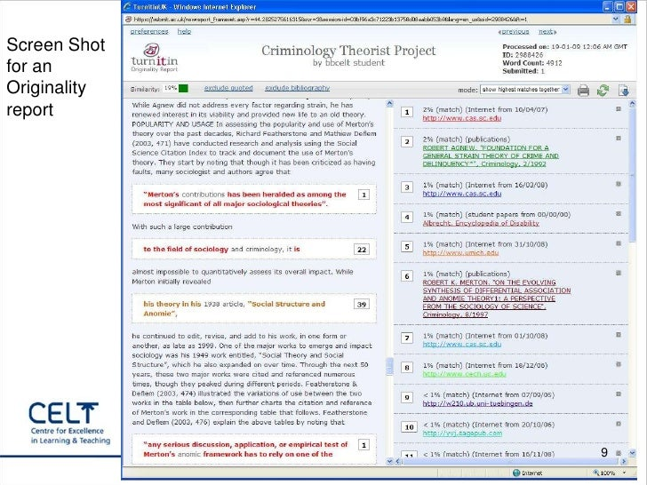 Training For Turnitin Through Blackboard With Bb