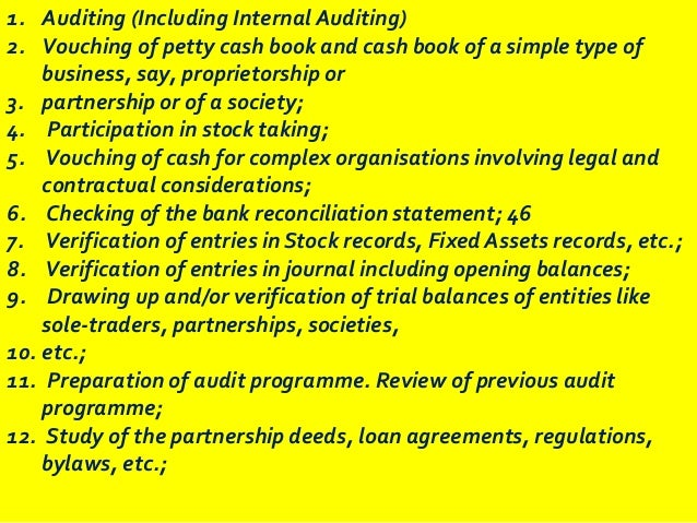 Act 445 internal auditing course notes