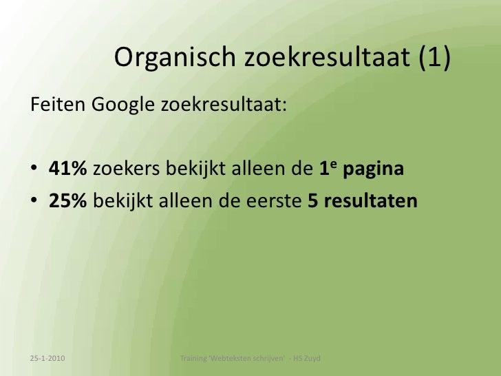 Voorbeeld eigen site<br />13-1-2010<br />Training &apos;Webteksten schrijven&apos;  - HS Zuyd<br />