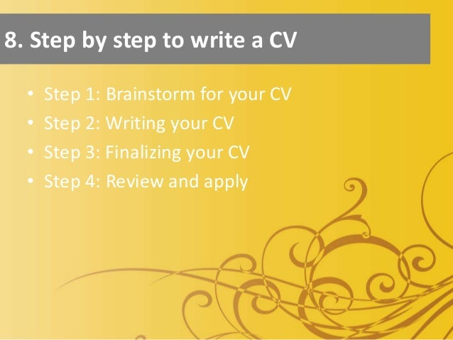 how to build a cv step by step