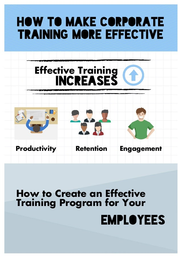 How to Make Corporate Training More Effective Effective Training INCREASES Productivity Retention Engagement How to Create...