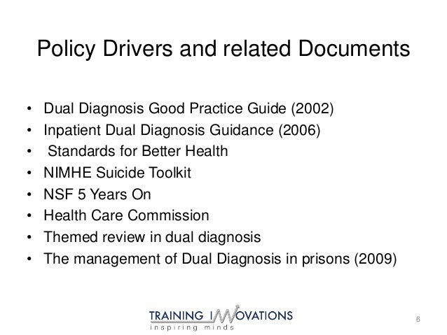 dual diagnosis good practice guide