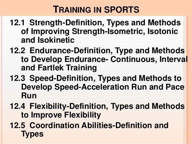 Training in sports Slide 3