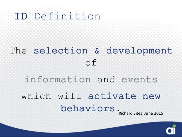 The design blueprint for creating performance driven learning 3 id definition the selection development malvernweather Images