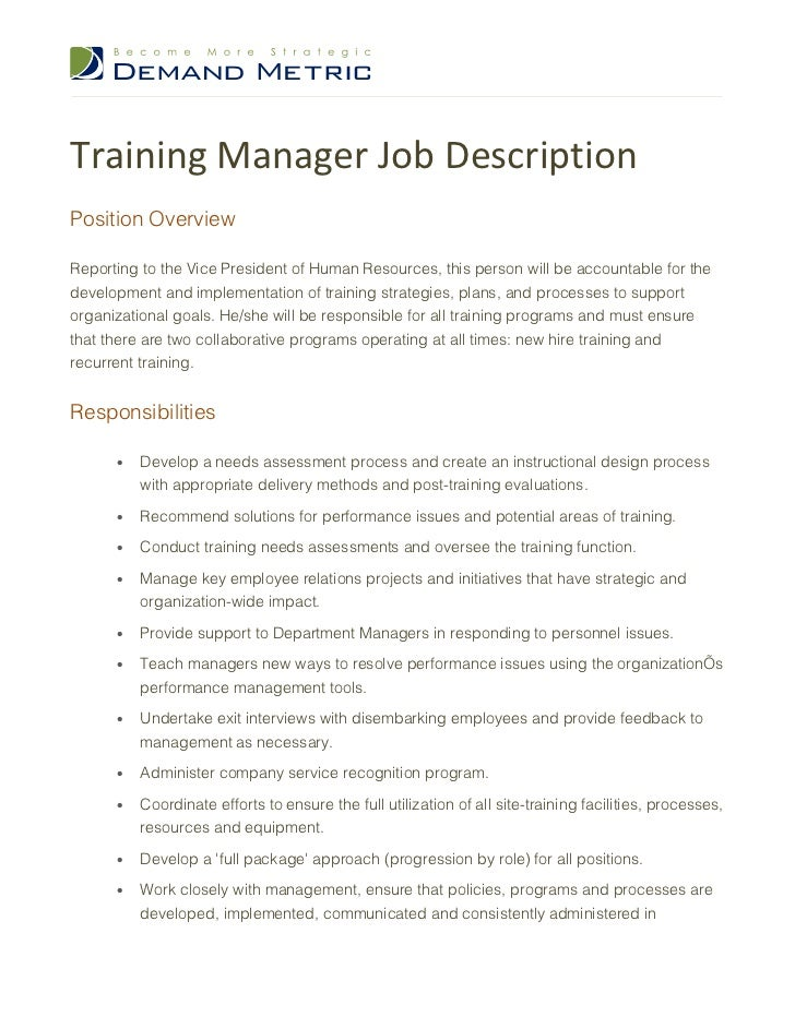 description of a persons job In this section please list what knowledge this person would need to do the job please include any specific qualification or training  job description template:.