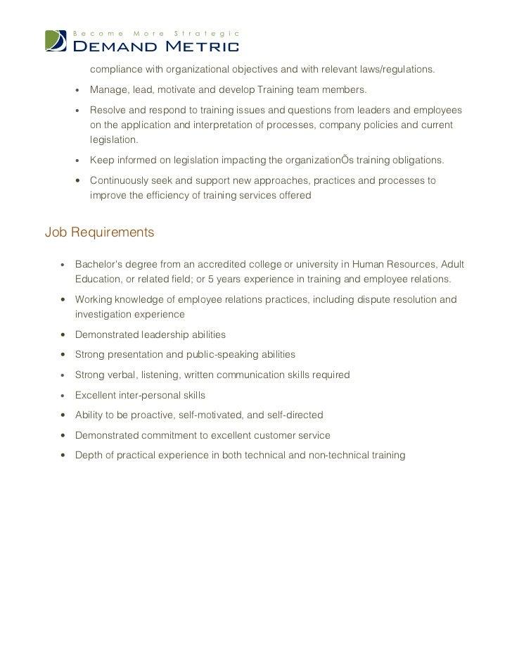 training manager job description customer service trainer job description - Customer Relations Job Description
