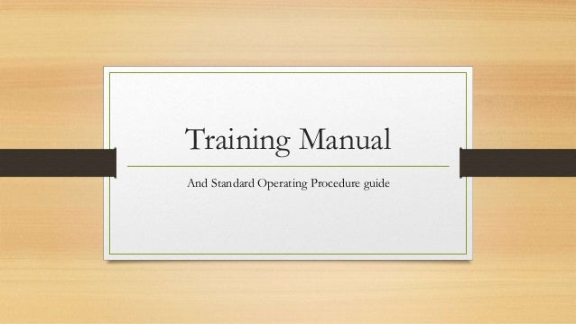 training manual and sop rh slideshare net Training Manual Cover Training Manual Clip Art