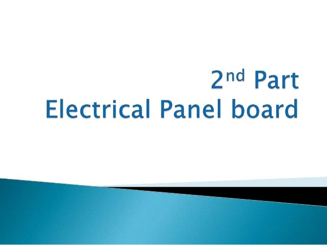  Symbol of electrical System  Issues and Maintenance of panel board