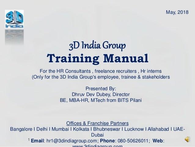 3D india Group HR Consultants, HR Interns, Freelance Recruiter, Work …