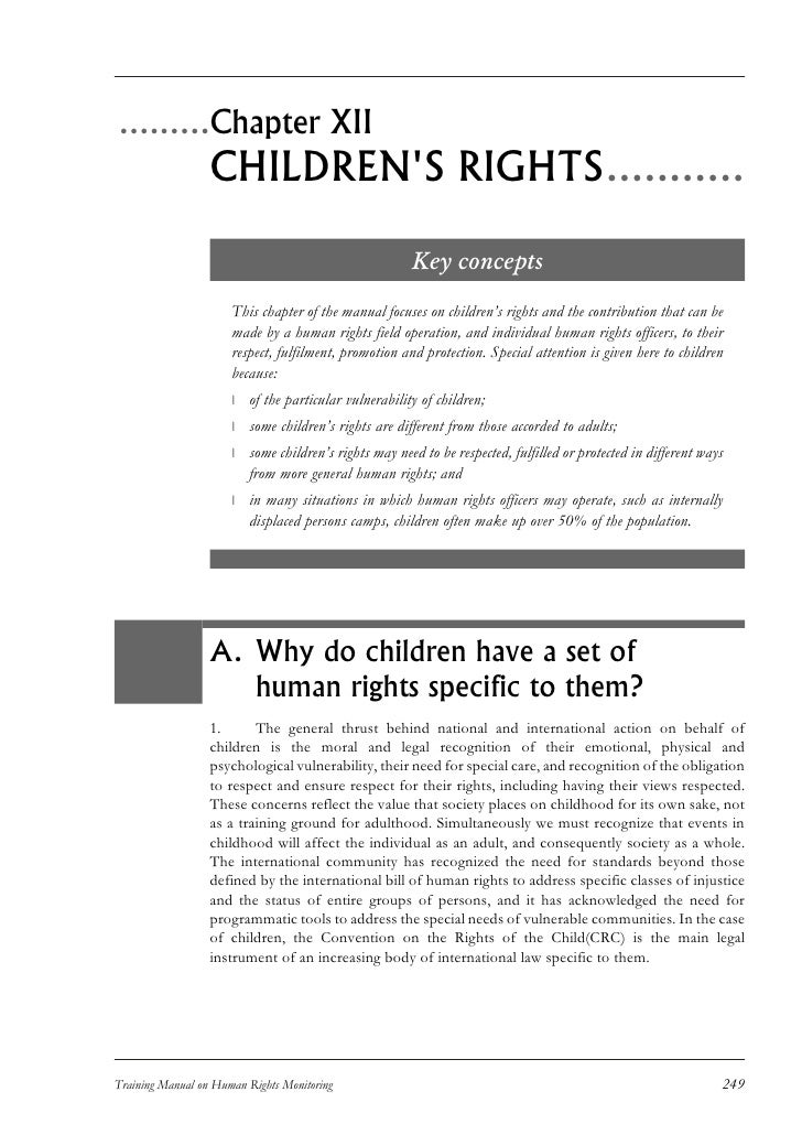 .........Chapter XII                   CHILDREN'S RIGHTS...........                                                       ...