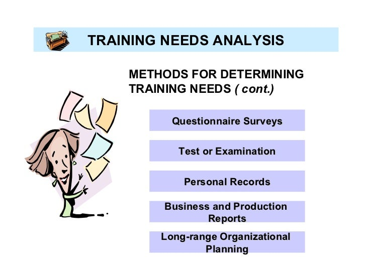 research paper on training needs analysis International journal of scientific and research publications, volume 6, issue 8, august 2016 242 issn 2250-3153 role of training needs assessment in the performance of.