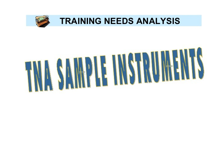 Sample Needs Analysis
