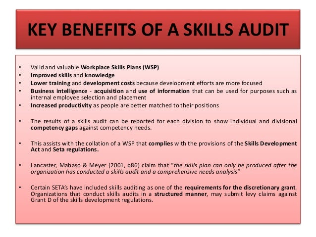 What Are The Disadvantages Of A Skills Audit?