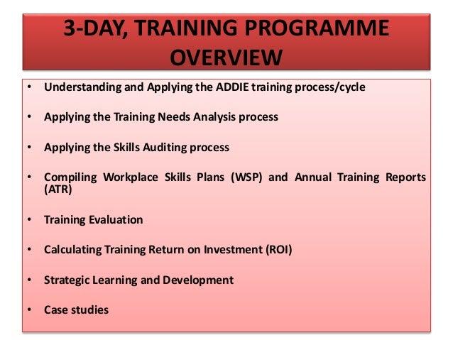 Training Needs Analysis, Skills Auditing & Evaluation Slide 2