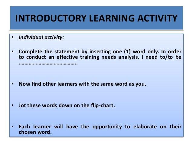 Training needs analysis, skills auditing and training roi presentation 31 august 2015 Slide 3