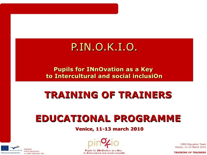 Training of trainers portugal