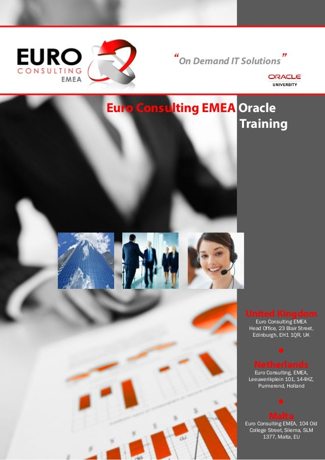 """""""On Demand IT Solutions"""" Euro Consulting EMEA Oracle               Training                            United Kingd..."""
