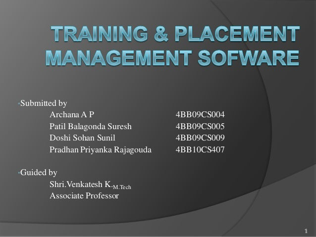 Training & placement management sofware