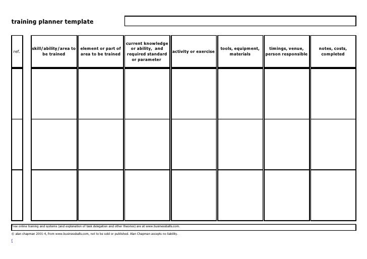 end user training plan template - training planner template