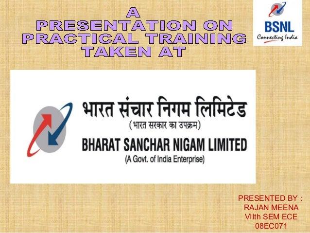 Training ppt bsnl