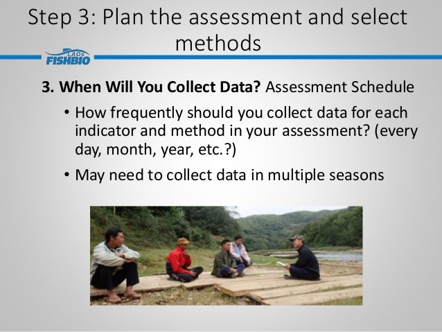 Step 3: Plan the assessment and select methods 3. When Will You Collect Data? Assessment Schedule • How frequently should ...