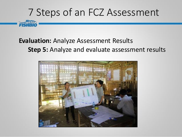 7 Steps of an FCZ Assessment Evaluation: Analyze Assessment Results Step 5: Analyze and evaluate assessment results