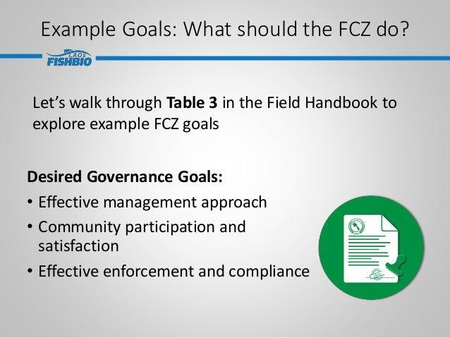 Desired Governance Goals: • Effective management approach • Community participation and satisfaction • Effective enforceme...