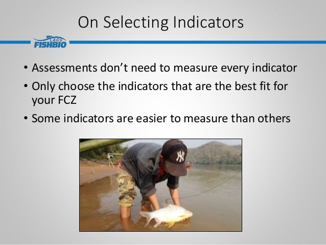 On Selecting Indicators • Assessments don't need to measure every indicator • Only choose the indicators that are the best...