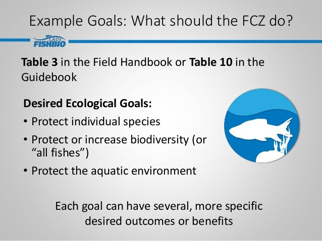 Example Goals: What should the FCZ do? Desired Ecological Goals: • Protect individual species • Protect or increase biodiv...