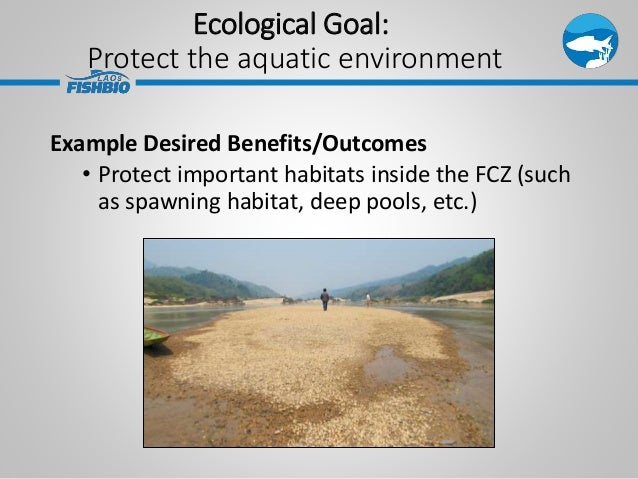 Ecological Goal: Protect the aquatic environment Example Desired Benefits/Outcomes • Protect important habitats inside the...