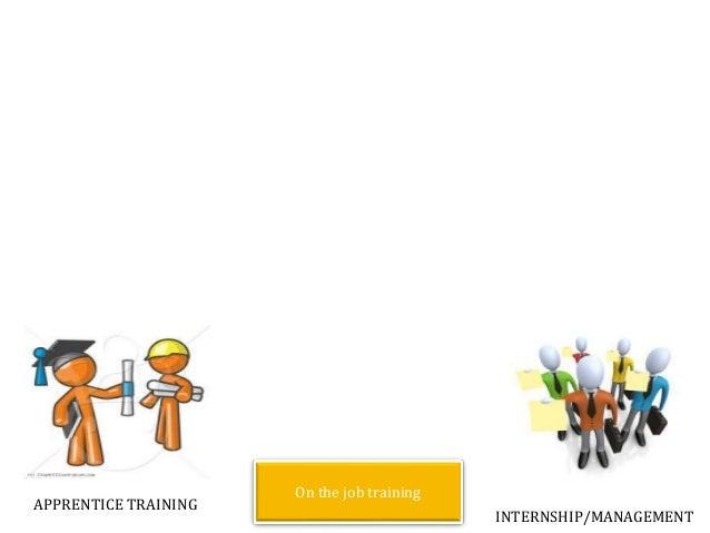 APPRENTICE TRAINING INTERNSHIP/MANAGEMENT On the job training