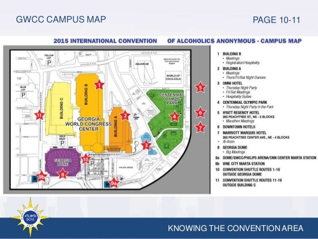 2015 international volunteer training knowing the convention area gwcc campus map page 10 11 gumiabroncs Images