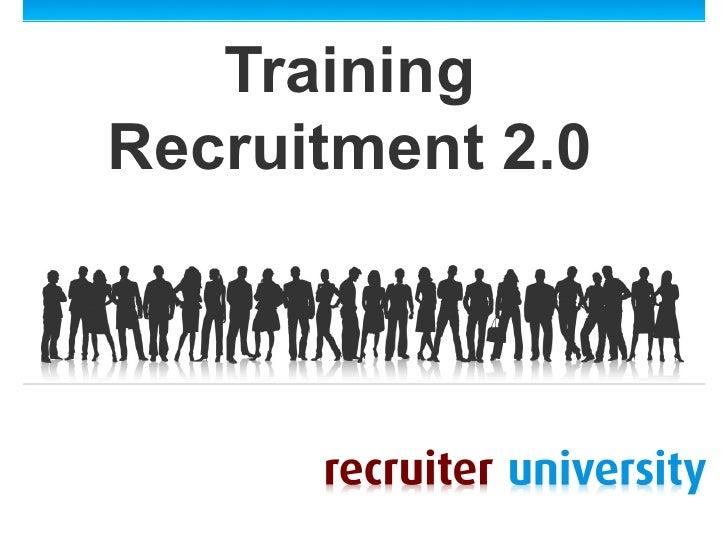 TrainingRecruitment 2.0