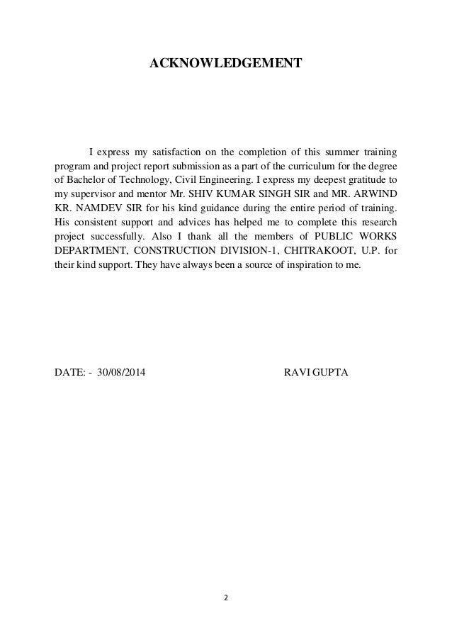 Report pdf engineering project civil