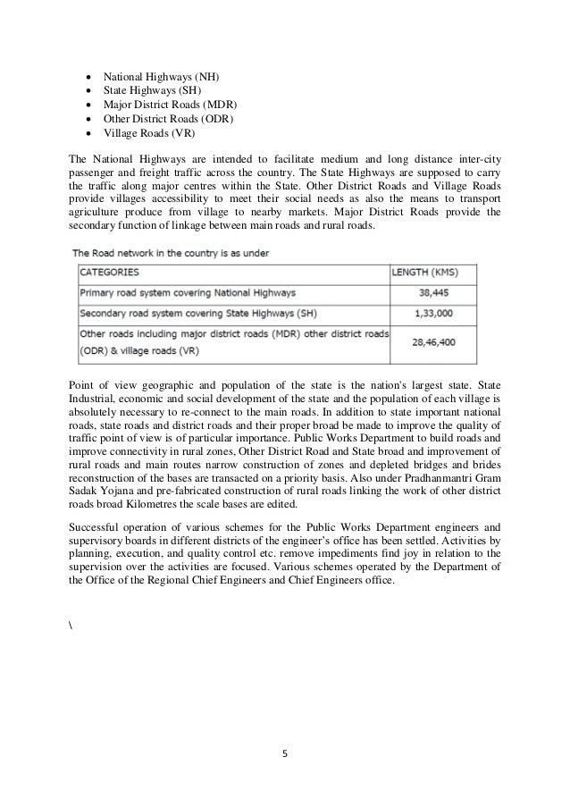 Summer Training Report On Road Construction Pdf
