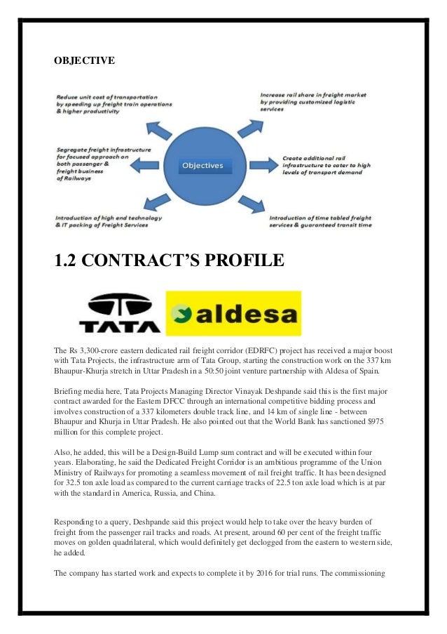 Training Report On Railway Structure At Tata Aldesa