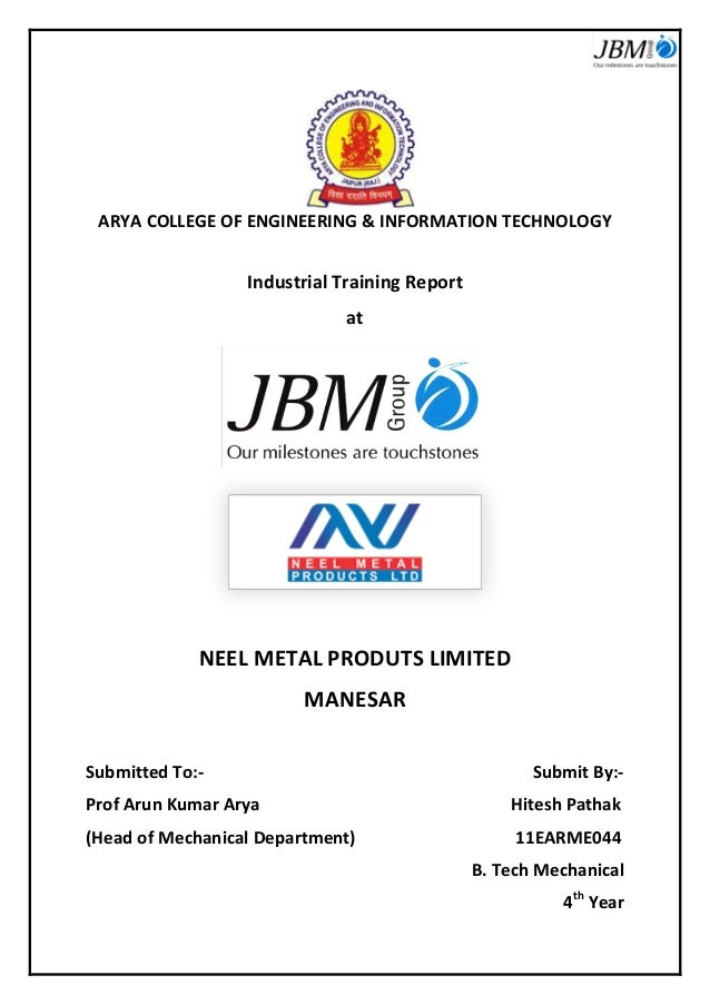 industrial training technical report Acquisition of employability skills in technical education the paper discusses the  purpose, outcome and evaluation of the industrial training/in-plant.