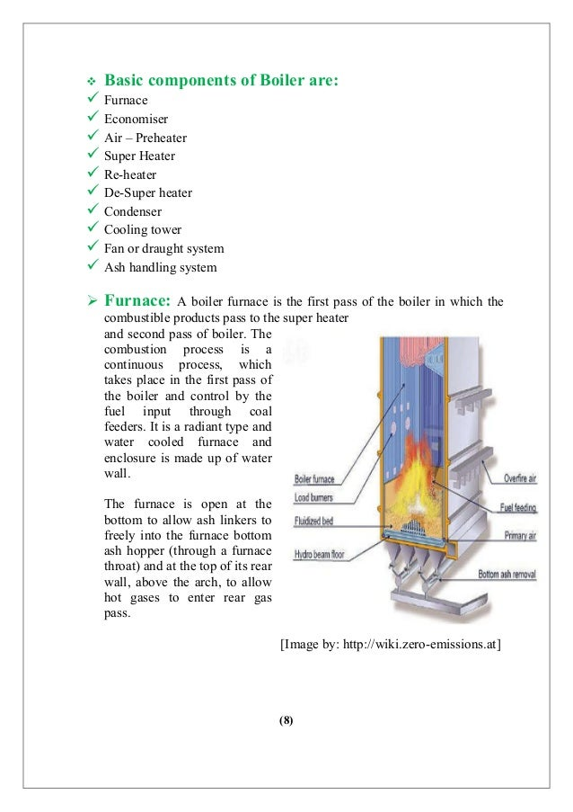 Training report- Boiler and Thermal Plants.