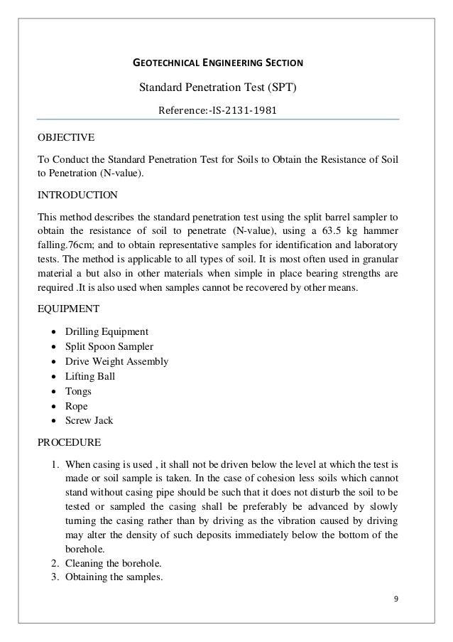 standard penetration test pdf