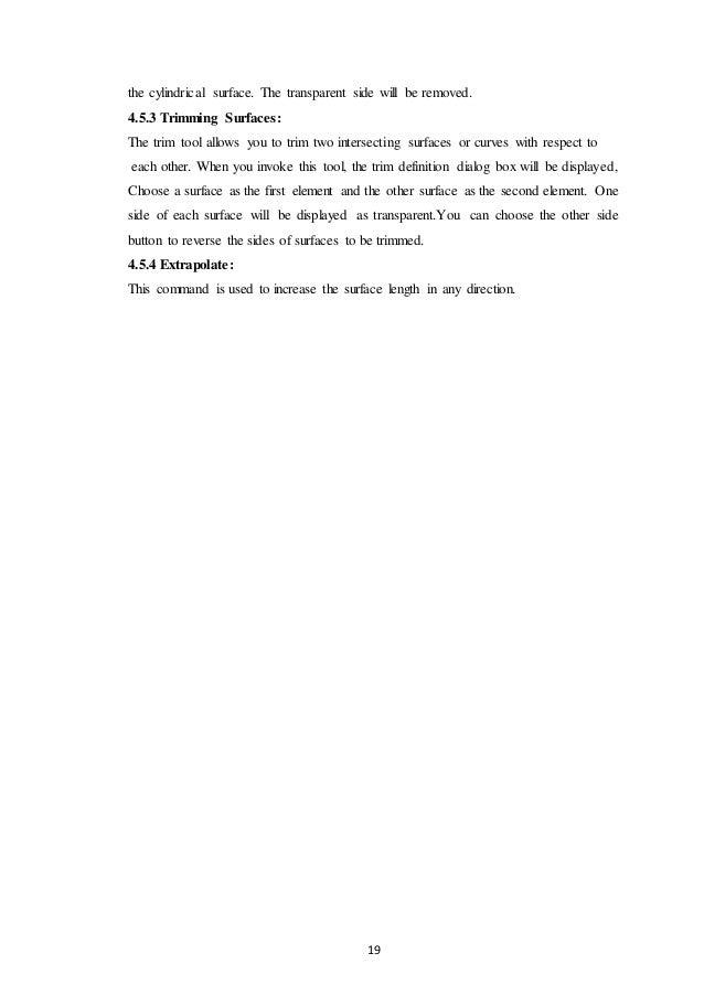 Training report on catia