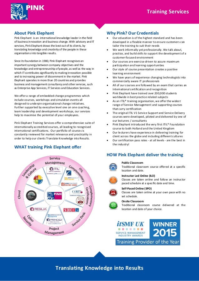 Training Services Brochure
