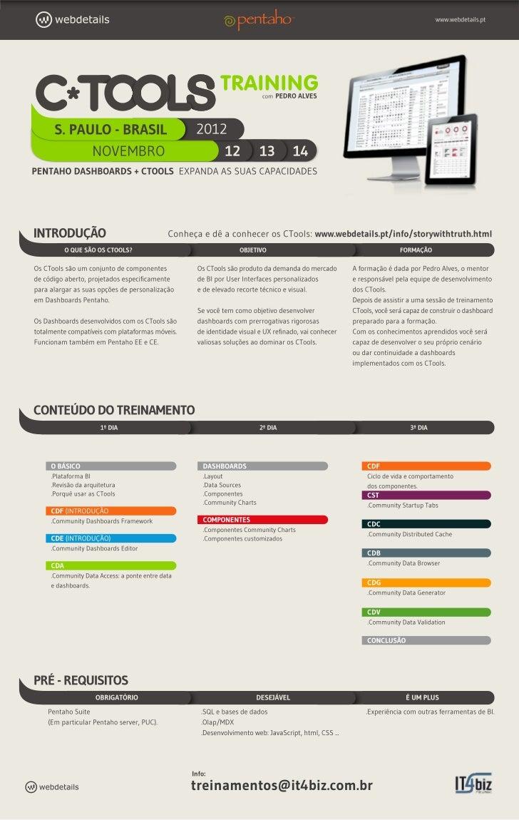 C*Tools Traning - Curso de criação de Dashboards utilizando as ferramentas C (Pentaho) com Pedro Alves - São Paulo - 12 a ...