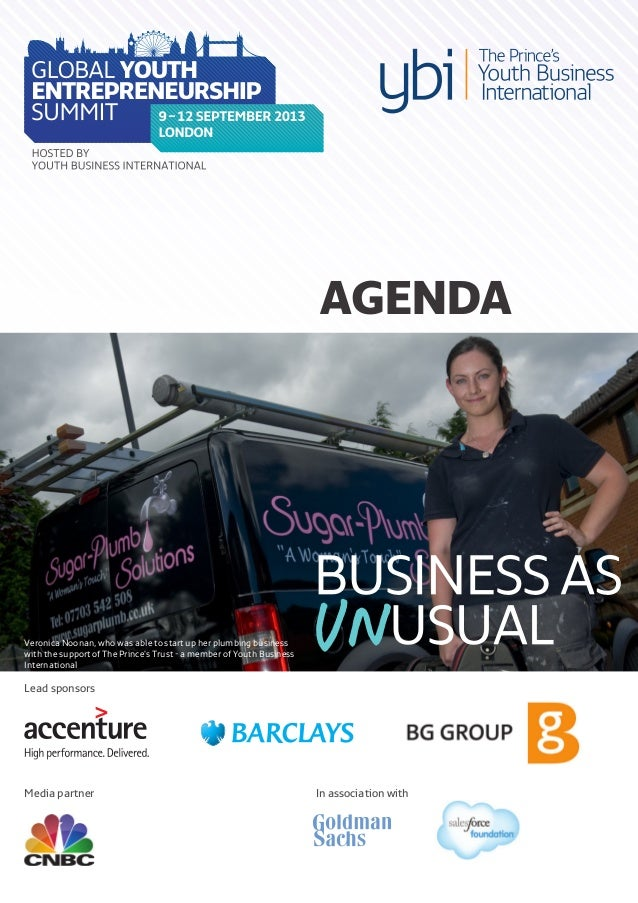 Lead sponsors In association with AGENDA Media partner Veronica Noonan, who was able to start up her plumbing business wit...