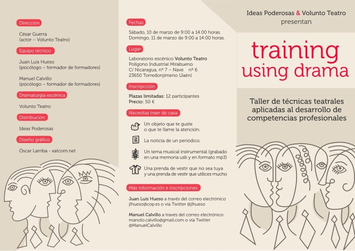 Training using drama