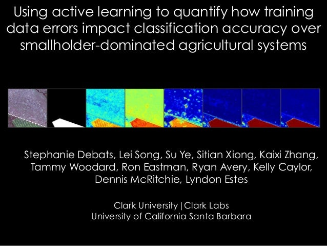 Using active learning to quantify how training data errors impact classification accuracy over smallholder-dominated agric...