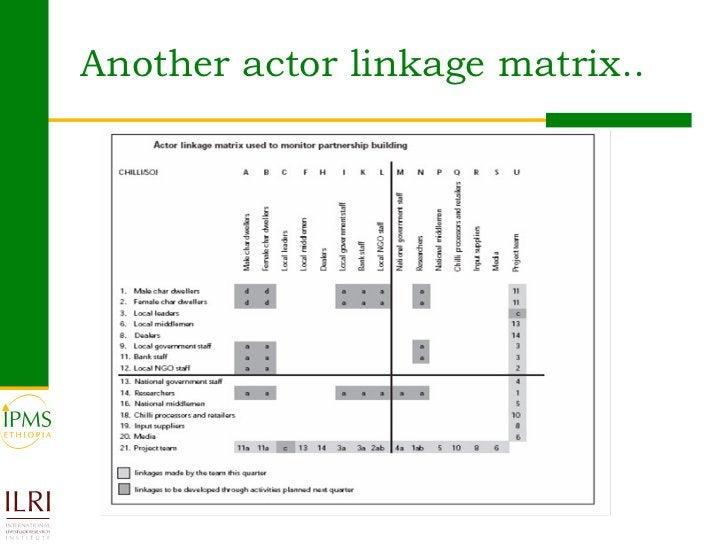 Another actor linkage matrix..