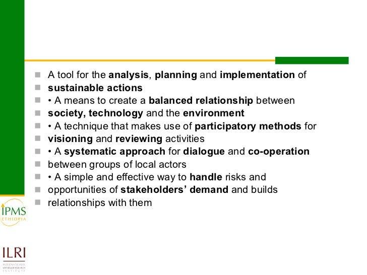 <ul><li>A tool for the  analysis ,  planning  and  implementation  of </li></ul><ul><li>sustainable actions </li></ul><ul>...