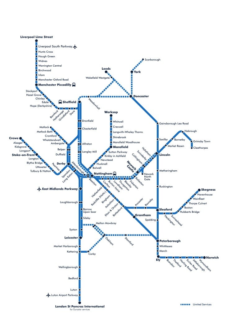 Train route map