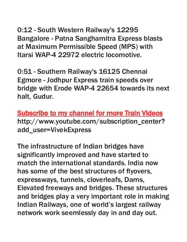 TRAINS BLASTING on Rail Bridge : Indian Railways Video